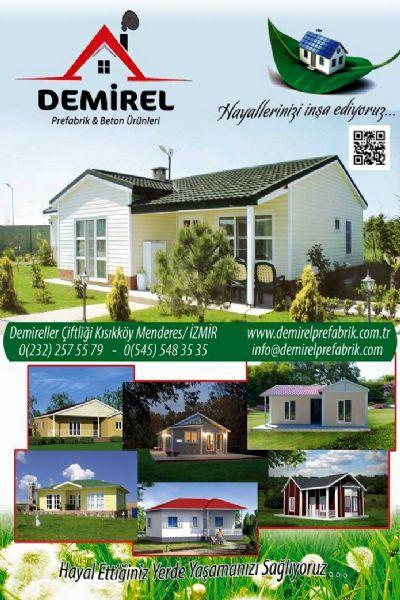 Menderesde yapımı tamamlanan 60 m2 prefabrik ev montajı yapılmıştır. İyi günlerde kullanınız.