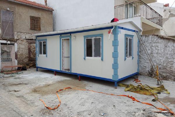 Menderesteki prefabrik evimizin montajı tamamlandı