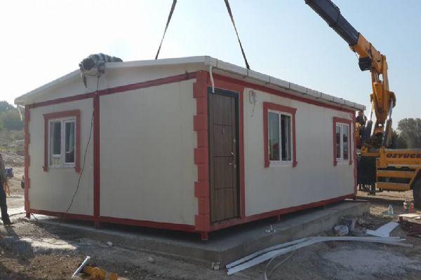 Urla Çeşmealtında konteyner evi tamamladık